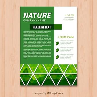 Mooie natuur flyer sjabloon met moderne stijl