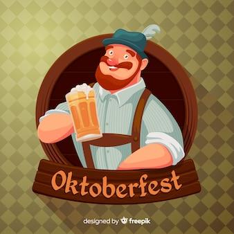 Mooie oktoberfest compositie met platte ontwerp