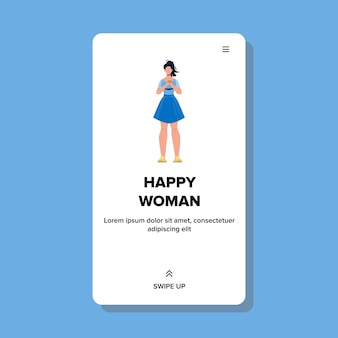 Mooie optimistische vrolijke gelukkige vrouw