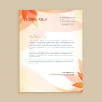 Mooie oranje bloem briefpapier