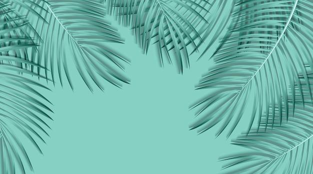 Mooie palmblad achtergrond. vectorillustratie. eps10