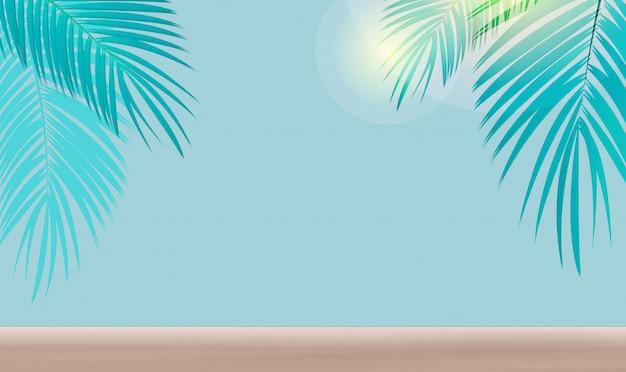 Mooie palmbladachtergrond.
