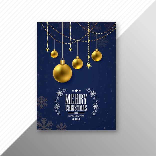 Mooie partij trouwen kerst brochure sjabloon