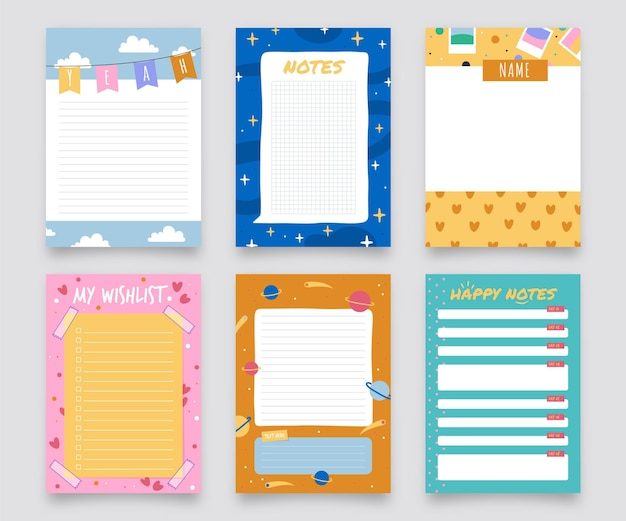 Mooie plakboeknotities en kaartenpakket