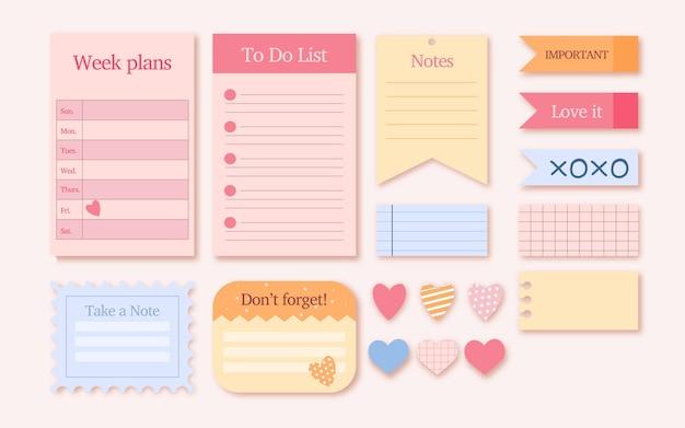 Mooie planner plakboekelementen instellen