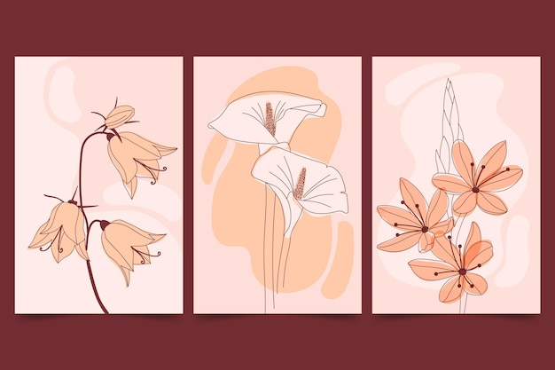 Mooie platte bloemenkaarten