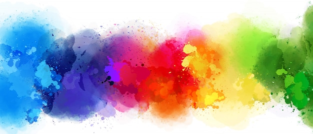 Mooie plons van verschillende kleuren