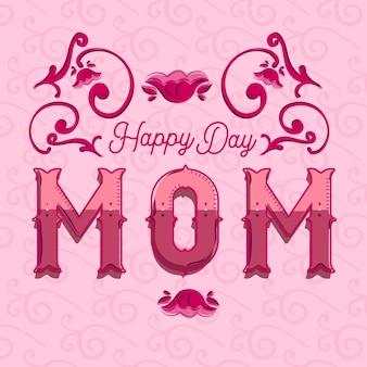 Mooie poster gelukkige dag moeder
