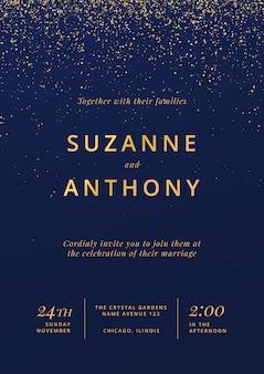 Mooie poster voor bruiloft uitnodiging