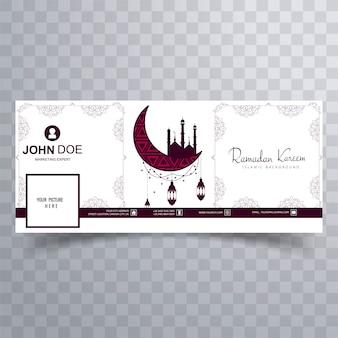 Mooie ramadan kareem facebook tijdlijn cover ontwerp