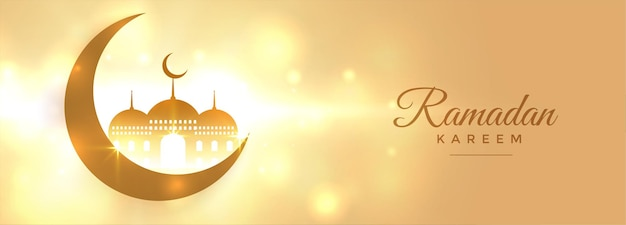 Mooie ramadan kareem hemelse banner