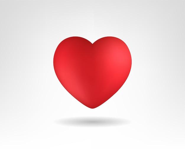 Mooie realistische hart vectorillustraties. 3d-stijl.