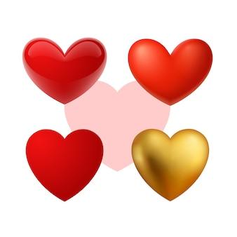 Mooie realistische vector hart illustraties