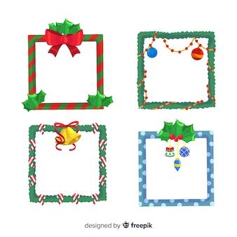 Mooie reeks kerstmisgrenzen en kaders