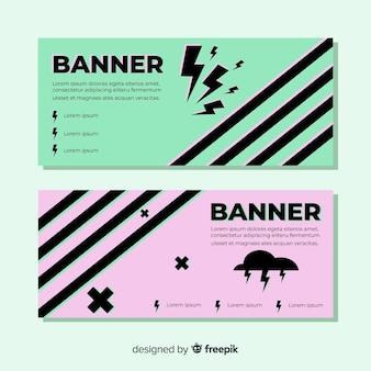 Mooie reeks kleurrijke banners