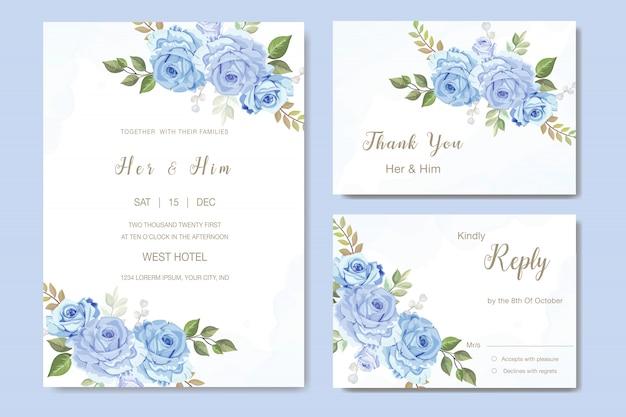 Mooie roos vector voor bruiloft uitnodiging