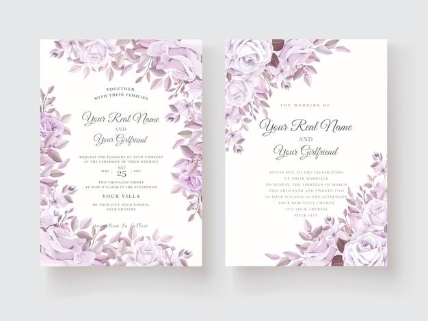 Mooie rozen uitnodigingskaartsjabloon