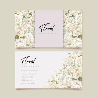 Mooie rozen visitekaartjesjabloon