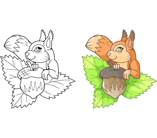 Mooie schattige eekhoorn illustratie