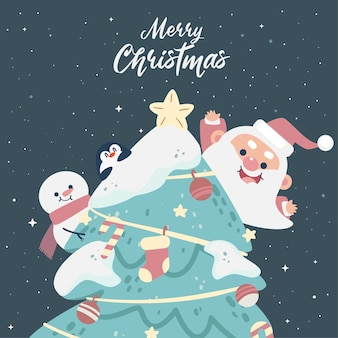 Mooie set kerstgroetelementen