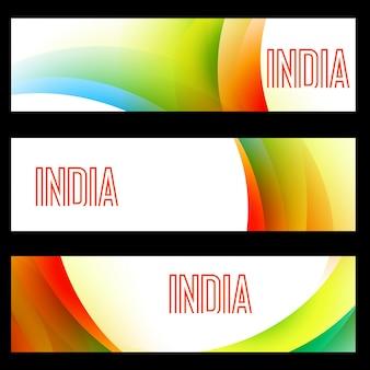 Mooie set van indiase vlag headers