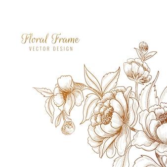Mooie sier decoratieve bloemen frame achtergrond Gratis Vector