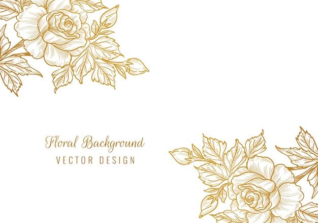 Mooie sier decoratieve bloemenachtergrond