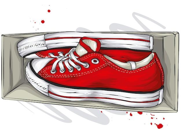 Mooie sneakers in doos