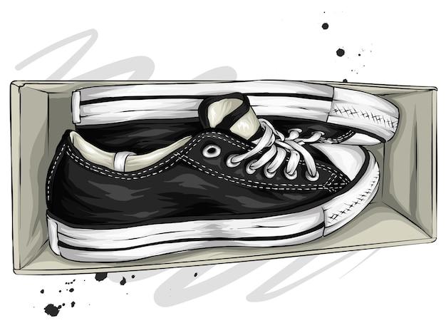 Mooie sneakers in een doos