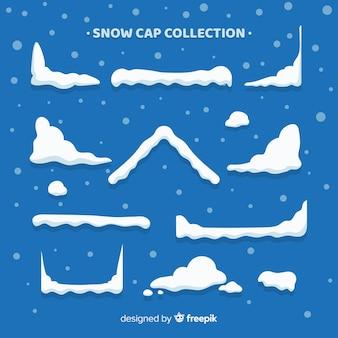 Mooie sneeuw cap collectie