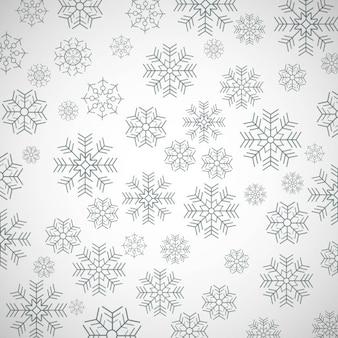 Mooie sneeuwvlokkenachtergrond