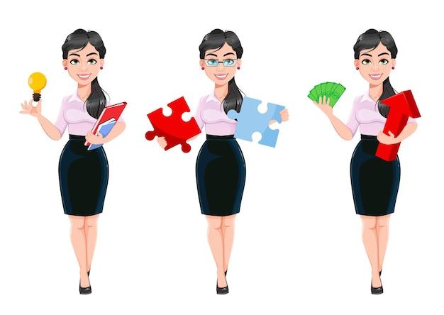 Mooie succesvolle bedrijfsvrouw