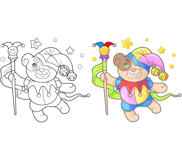 Mooie teddybeer nar illustratie