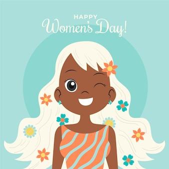 Mooie tekening voor de dag van de vrouw