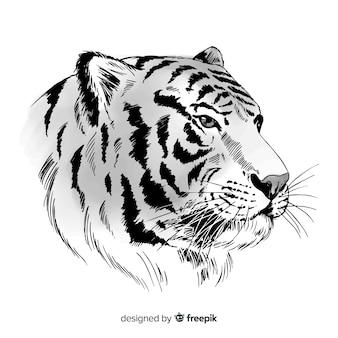 Mooie tijgerachtergrond
