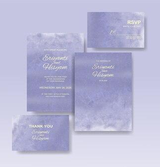 Mooie trouwkaart aquarel met splash