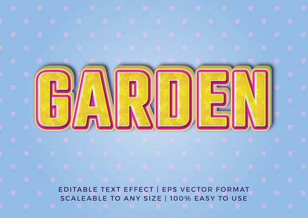 Mooie tuin titel teksteffect