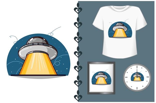 Mooie ufo cartoon afbeelding