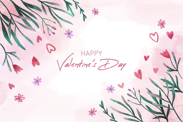 Mooie valentijnsdag achtergrond met bloemen