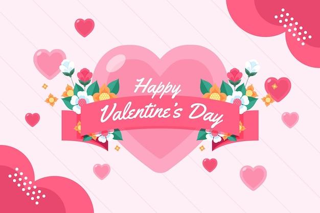 Mooie valentijnsdag achtergrond met groet