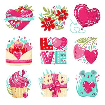 Mooie valentijnsdag badge