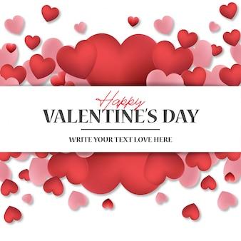 Mooie valentijnsdag banner met harten
