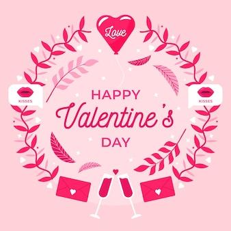 Mooie valentijnsdag behang met groet