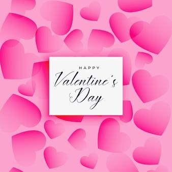 Mooie valentijnsdag harten patroon achtergrond