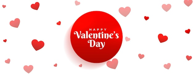 Mooie valentijnsdag harten patroon banner