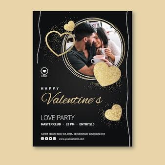 Mooie valentijnsdag poster sjabloon