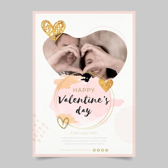 Mooie valentijnsdag poster