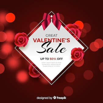 Mooie valentijnsdag verkoop achtergrond