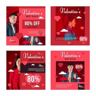 Mooie valentijnsdag verkoop postpakket