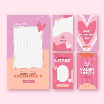 Mooie valentijnsdag verkoop verhalen collectie